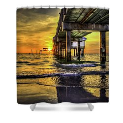 Clearwater Pier Shower Curtain by Marvin Spates