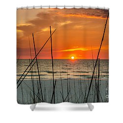 Clearwater Sunset 2 Shower Curtain by Mike Ste Marie