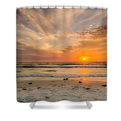 Clearwater Sunset Shower Curtain by Mike Ste Marie