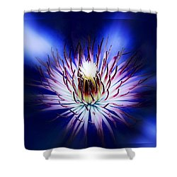 Clemantis Center Shower Curtain