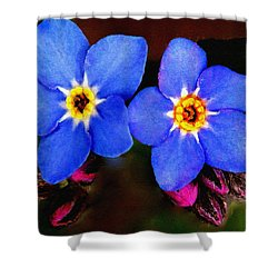 Clematis Flowers Shower Curtain by Bob and Nadine Johnston