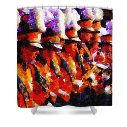 Clemson Tiger Band - Afremov-style Shower Curtain