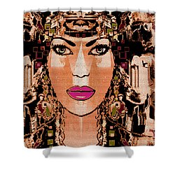 Cleopatra Shower Curtain by Natalie Holland
