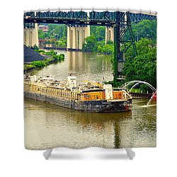 Cleveland Fire Department Shower Curtain by Frozen in Time Fine Art Photography