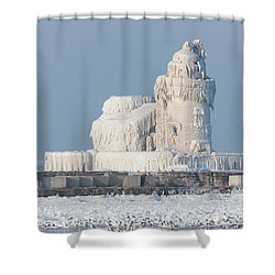 Cleveland Harbor West Pierhead Light Shower Curtain