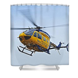 Cleveland Metro Life Flight Shower Curtain by Frozen in Time Fine Art Photography