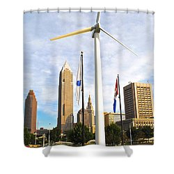 Cleveland Ohio Science Center Shower Curtain by Frozen in Time Fine Art Photography