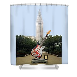 Shower Curtain featuring the photograph Cleveland Rocks by Terri Harper