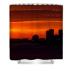 Cleveland Silhouette Shower Curtain by Dale Kincaid