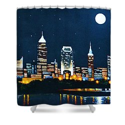 Cleveland Skyline Shower Curtain
