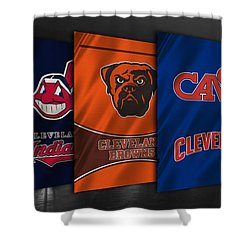 Cleveland Sports Teams Shower Curtain