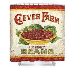 Clever Farms Beans Shower Curtain by Debbie DeWitt
