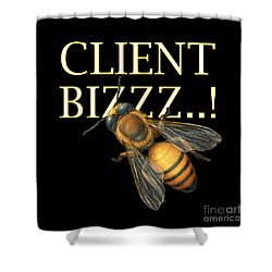 Client Buzzz Shower Curtain