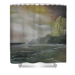 Cliff Bay Shower Curtain