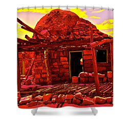 Cliff Dwellers In Red Shower Curtain
