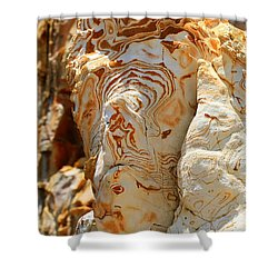 Cliff Face Shower Curtain by Tap On Photo