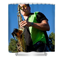 Cliff Miller Of The Fabulous Kingpins Shower Curtain by David Patterson