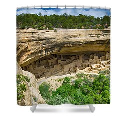 Shower Curtain featuring the photograph Cliff Palace by Juergen Klust