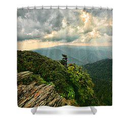 Cliff Tops At Mt. Leconte Gsmnp Shower Curtain