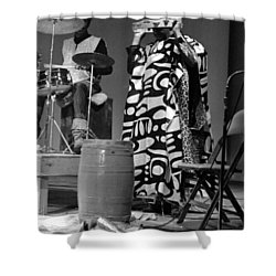 Clifford Jarvis And Sonny 1968 Shower Curtain by Lee  Santa