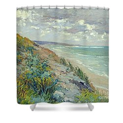Cliffs By The Sea At Trouville  Shower Curtain