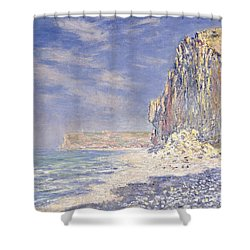 Cliffs Near Fecamp Shower Curtain by Claude Monet