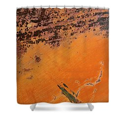 Cliffs Of Mars Shower Curtain by Fran Riley