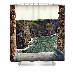 Cliffs Of Moher From O'brien's Tower Shower Curtain
