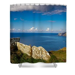 Shower Curtain featuring the photograph Cliffs Of Moher by Juergen Klust