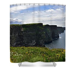 Cliffs Of Moher Looking South Shower Curtain