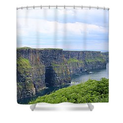 Cliffs Of Moher Panorama 3 Shower Curtain
