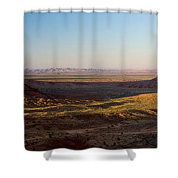 Cliffs On A Landscape, Monument Valley Shower Curtain by Panoramic Images