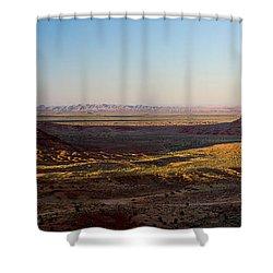 Cliffs On A Landscape, Monument Valley Shower Curtain