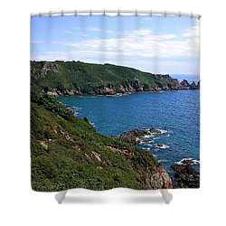 Cliffs On Isle Of Guernsey Shower Curtain