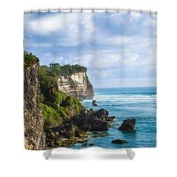 Cliffs On The Indonesian Coastline Shower Curtain