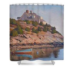 Cliffside Shower Curtain by Dianne Panarelli Miller