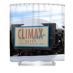 Shower Curtain featuring the photograph Climax Colorado by Fiona Kennard