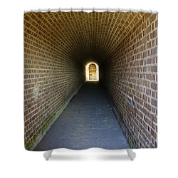 Clinch Hall Shower Curtain by Laurie Perry