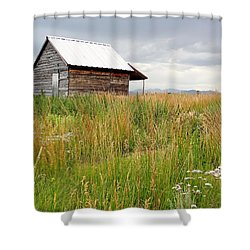 Cline Ranch Outbuilding II Shower Curtain by Lanita Williams