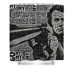 Clint Eastwood Dirty Harry Shower Curtain by Tony Rubino