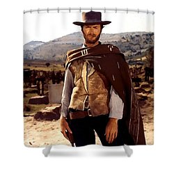 Clint Eastwood Outlaw Shower Curtain
