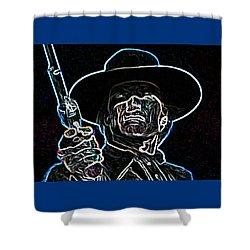 Clint Shower Curtain by Hartmut Jager