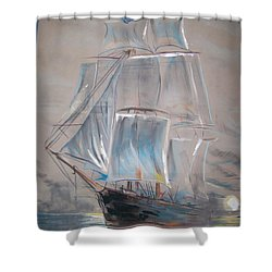 Clipper In Mist Shower Curtain