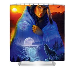 Cloak Of Visions Portrait Shower Curtain by Andrew Farley