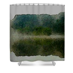Cloaked Fluidity Shower Curtain