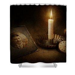 Clock - Memories Eternal Shower Curtain by Mike Savad