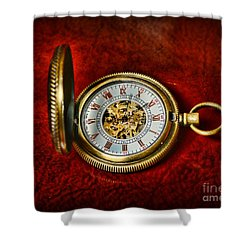 Clock - The Pocket Watch Shower Curtain by Paul Ward