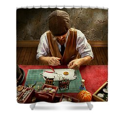 Clockmaker - A Demonstration In Horology Shower Curtain by Mike Savad