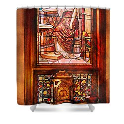 Clockmaker - An Ornate Clock Shower Curtain by Mike Savad