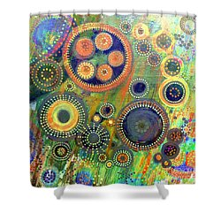 Clockwork Garden Shower Curtain